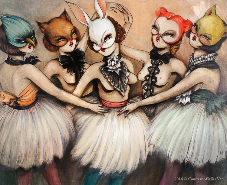 Miss Van's Masked Women: missvan-courtesy-bailarinas_painting_13.jpg