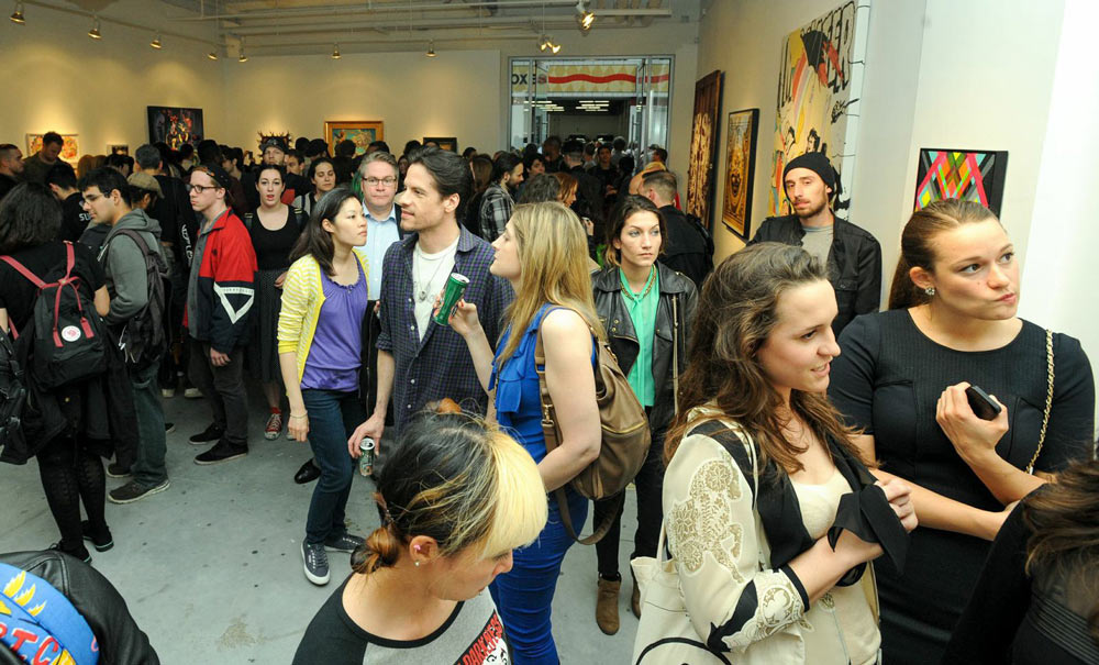 "Opening: ""Art Truancy: Celebrating 20 Years of Juxtapoz Magazine"" @ Jonathan LeVine Gallery—The People: Juxtapoz-Art-Truancy-Opening0060.jpg"