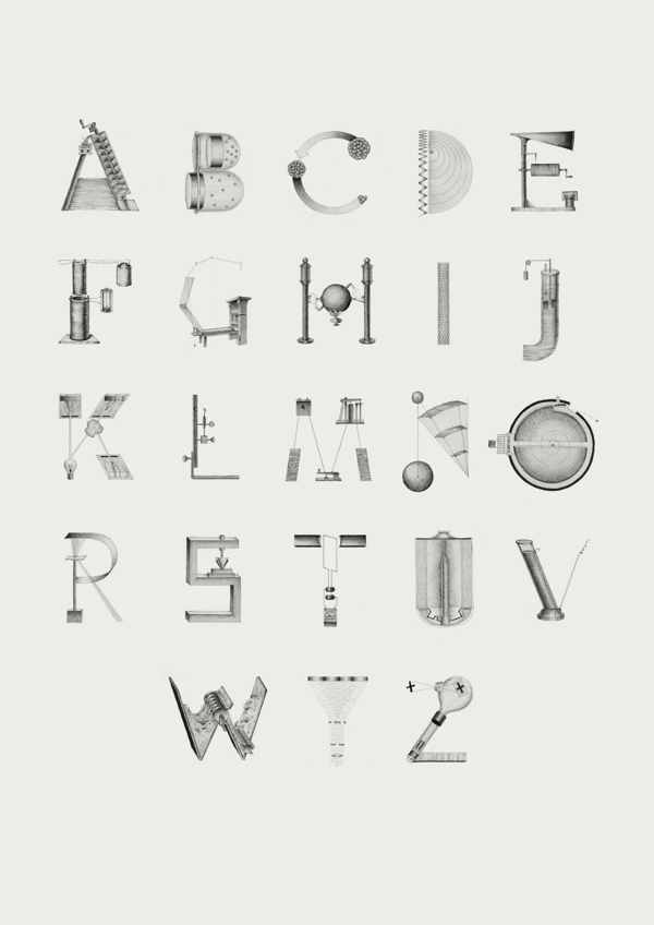 Lettering Pays Tribute to 26 of the Greatest Scientific Innovations: 2fe05f0efdcb966d3b9d5847dea31980.jpg