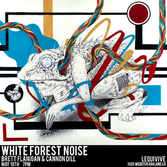 White Forest Noise @ LeQuivive, Oakland: showcardedit.jpg