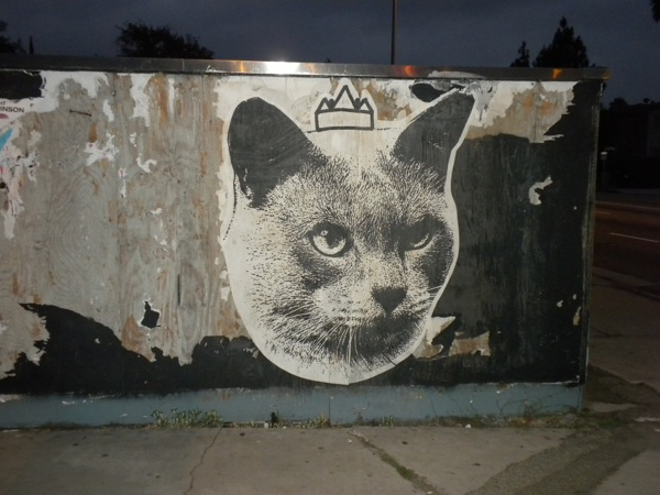 Cat Cult @ As Issued, Costa Mesa: street-art-by-cat-cult-la-brea-ave-hollywood-3.jpg