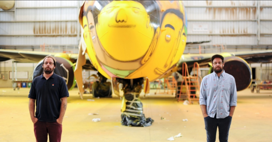 Os Gemeos Paints the Brazilian National Team's Plane: Screen Shot 2014-05-26 at 10.01.44 AM.png