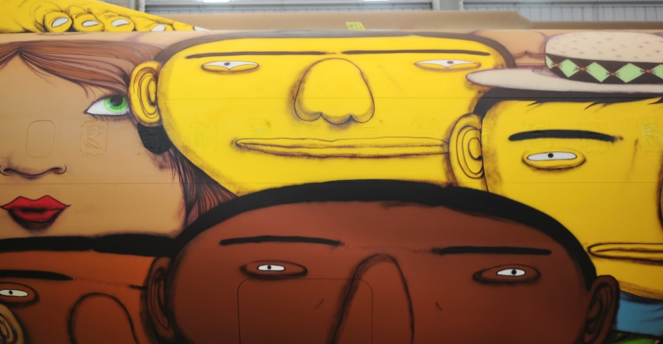 Os Gemeos Paints the Brazilian National Team's Plane: Screen Shot 2014-05-26 at 10.03.26 AM.png