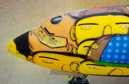 Os Gemeos Paints the Brazilian National Team's Plane
