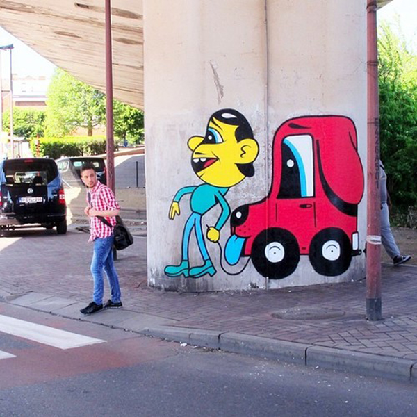 HuskMitNavn's animated characters bring life to the streets of Charleroi, Belgium: jux-husk3.jpg