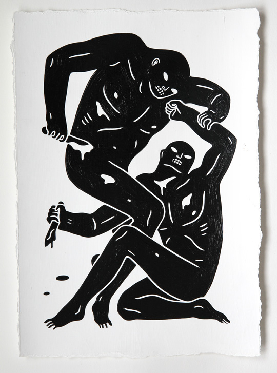 Just Before Brazil @ Alice Gallery, Brussels: cleon-peterson-2man.jpg