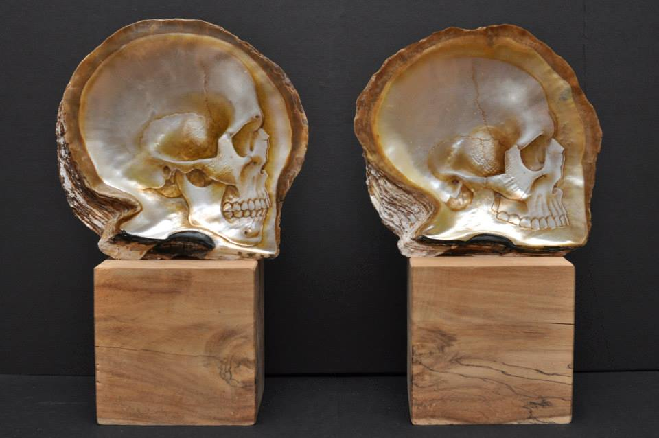Gregory Halili's Carved Mother of Pearl Skulls: JuxtapozGregoryHalili006.jpg