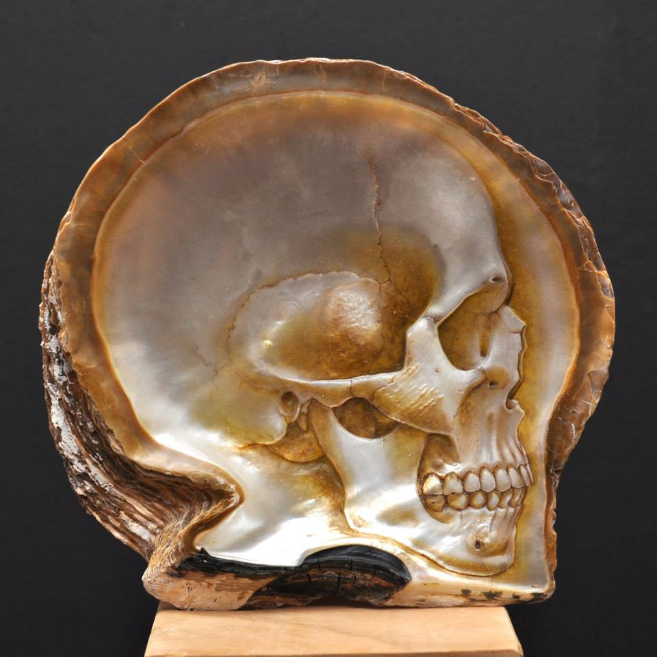 Gregory Halili's Carved Mother of Pearl Skulls: JuxtapozGregoryHalili007.jpg