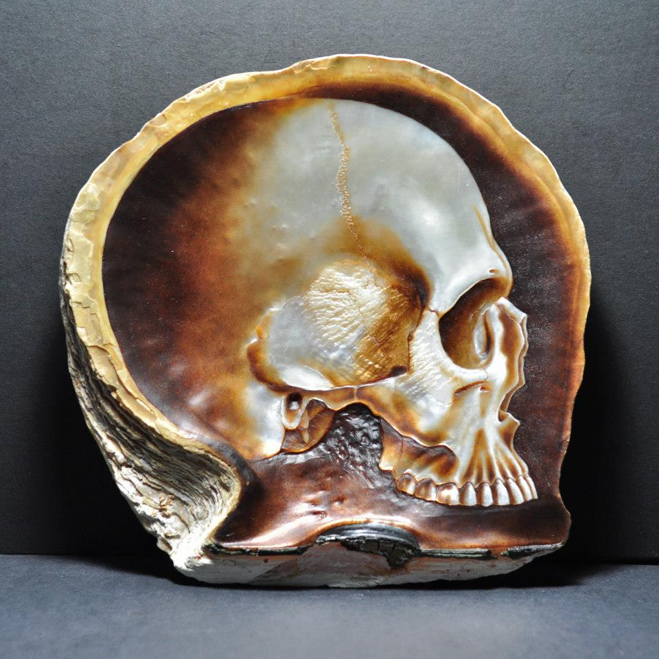 Gregory Halili's Carved Mother of Pearl Skulls: JuxtapozGregoryHalili011.jpg