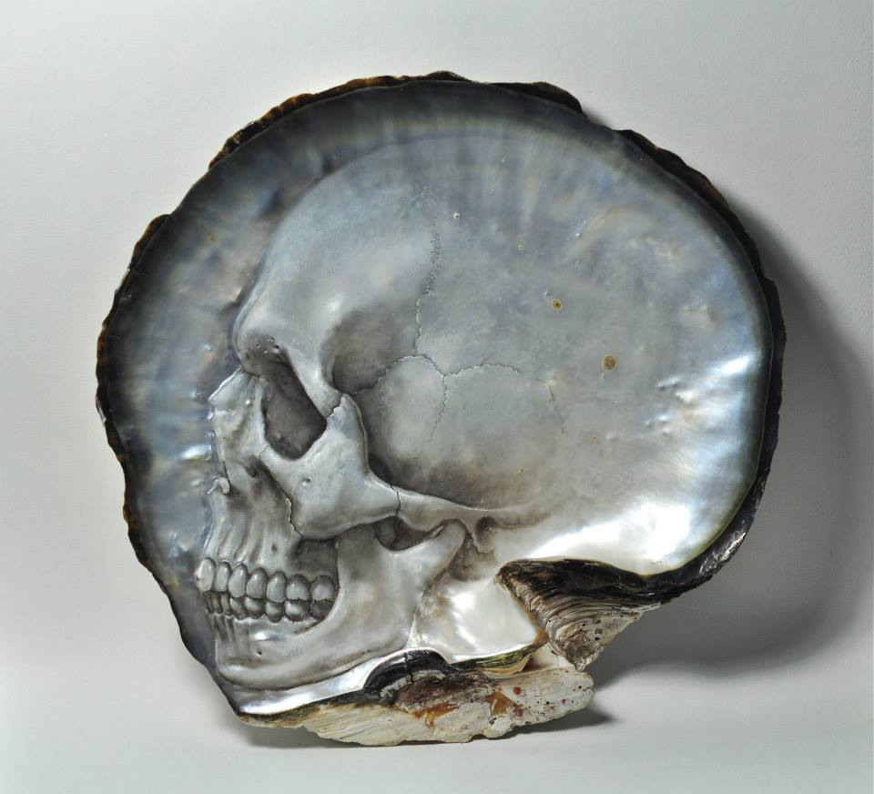 Gregory Halili's Carved Mother of Pearl Skulls: JuxtapozGregoryHalili017.jpg