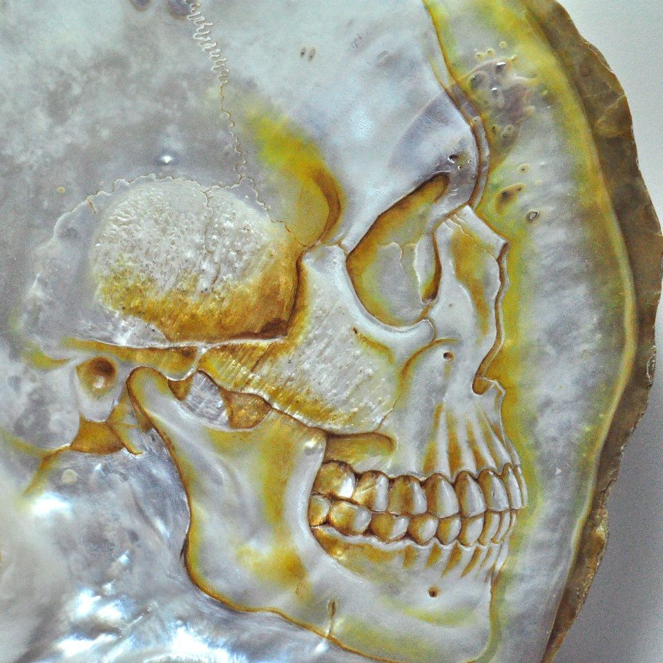 Gregory Halili's Carved Mother of Pearl Skulls: JuxtapozGregoryHalili023.jpg
