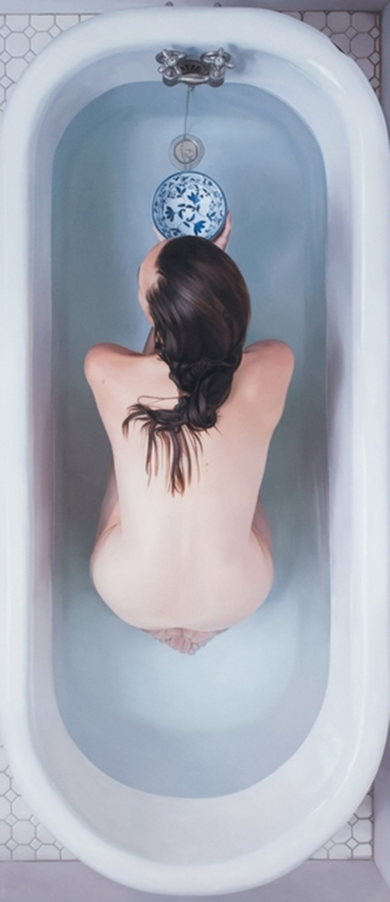 New Paintings from Lee Price: Bowl_28x64.jpg