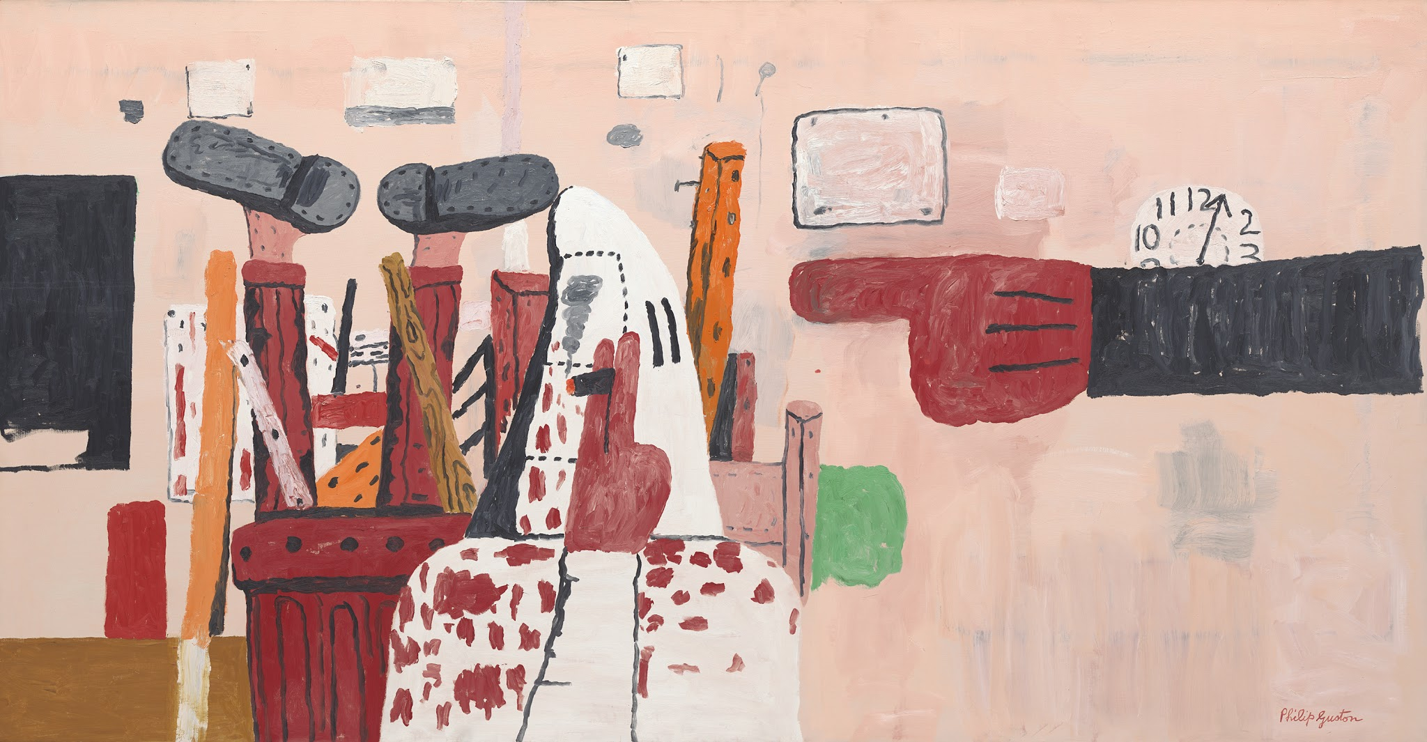 Modernism from the National Gallery of Art @ De Young Museum, SF: Guston_Courtroom.jpg
