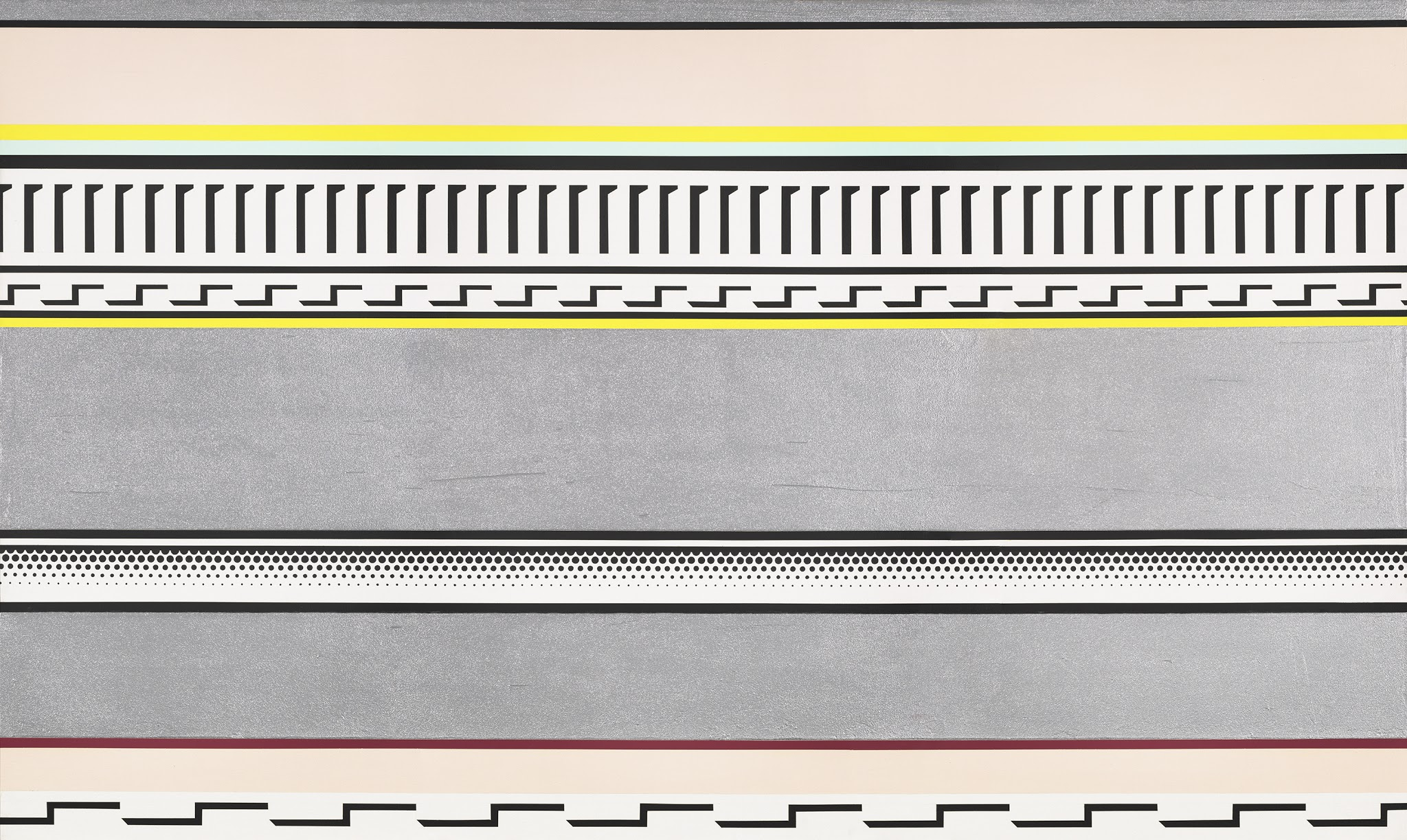 Modernism from the National Gallery of Art @ De Young Museum, SF: Lichtenstein_Entablature.jpg
