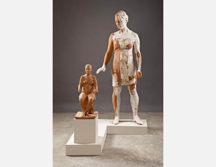 Kathy Venter's Life Size Ceramic Sculptures: GirlWithMaquette.jpg
