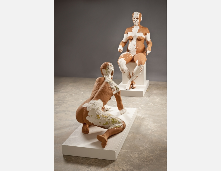 Kathy Venter's Life Size Ceramic Sculptures: Woman Drawing.jpg