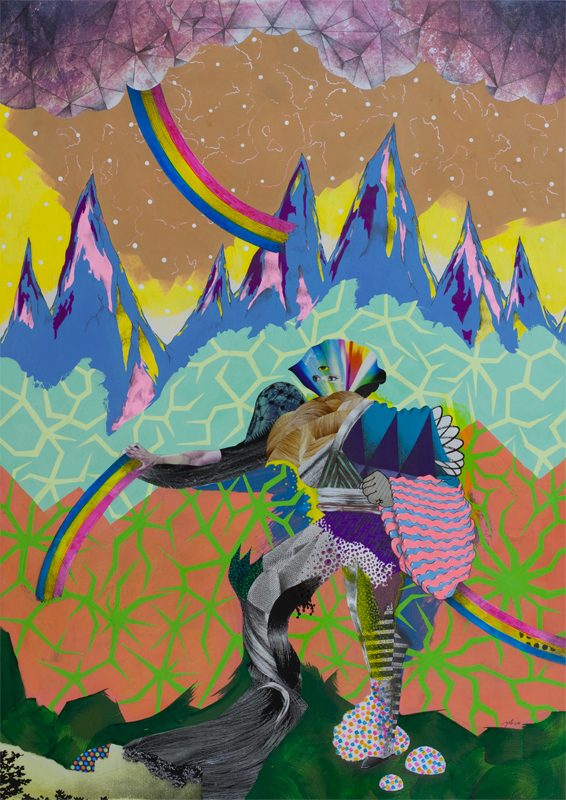 Works from Pop Collage Artist Yoh Nagao: invader02_A2.jpg