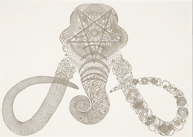 Hunter Stabler's Intricate Cut-outs: sonicpretzel.jpg