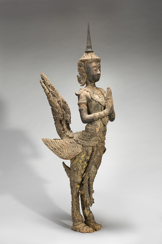 "SFMoMA on the Go: ""Gorgeous"" @ Asian Art Museum, SF: AAM Gorgeous Mythical bird-man EX 2014.1.A32_v2_Q5258.jpg"