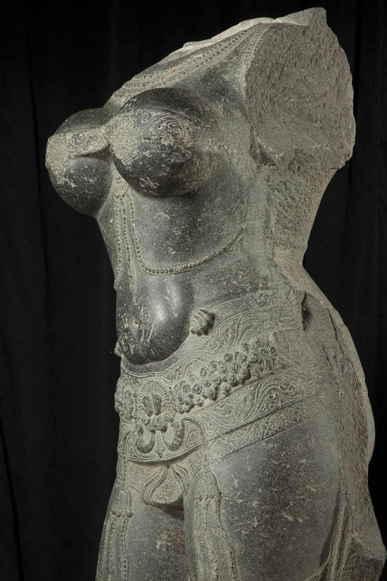 "SFMoMA on the Go: ""Gorgeous"" @ Asian Art Museum, SF: AAM Gorgeous Torso of a female deity EX 2014.1.A26_d05.jpg"