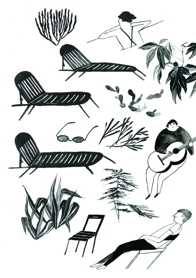Playful Illustrations from Sophie Alda: Deckchairs 72.jpg