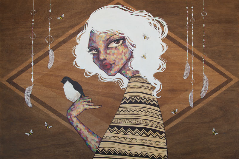 Ursula X Young Solo Show in San Francisco: the_birds_and_the_bees.jpg