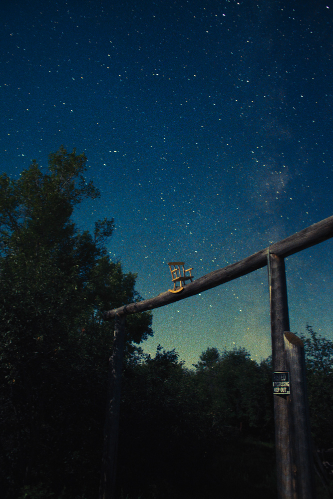 """Vertical Color of Sound"": New Photographs by Ryan McGinley: Night_Sky_Rocking_Chair_2014_60x90_Press1.jpg"