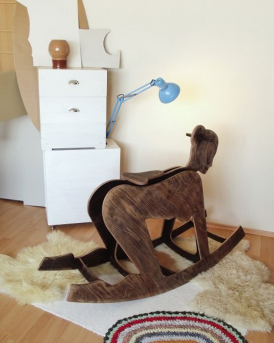 Peter Jakubik's Erotic Home Accessories: pony-girl-rocking-horse-448x560.jpg