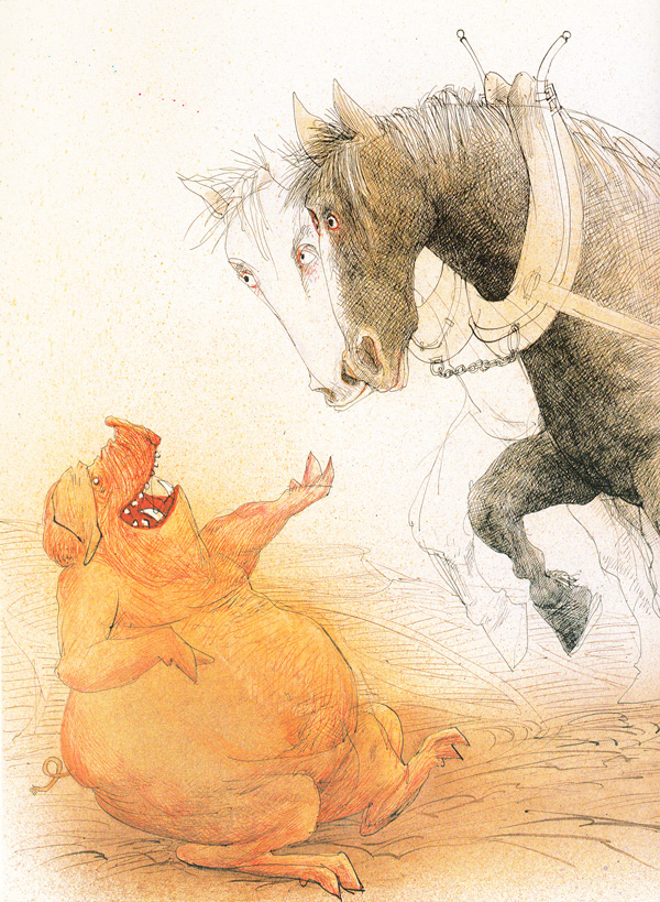 "Ralph Steadman's ""Animal Farm"" Illustrations: animalfarm_steadman10.jpg"