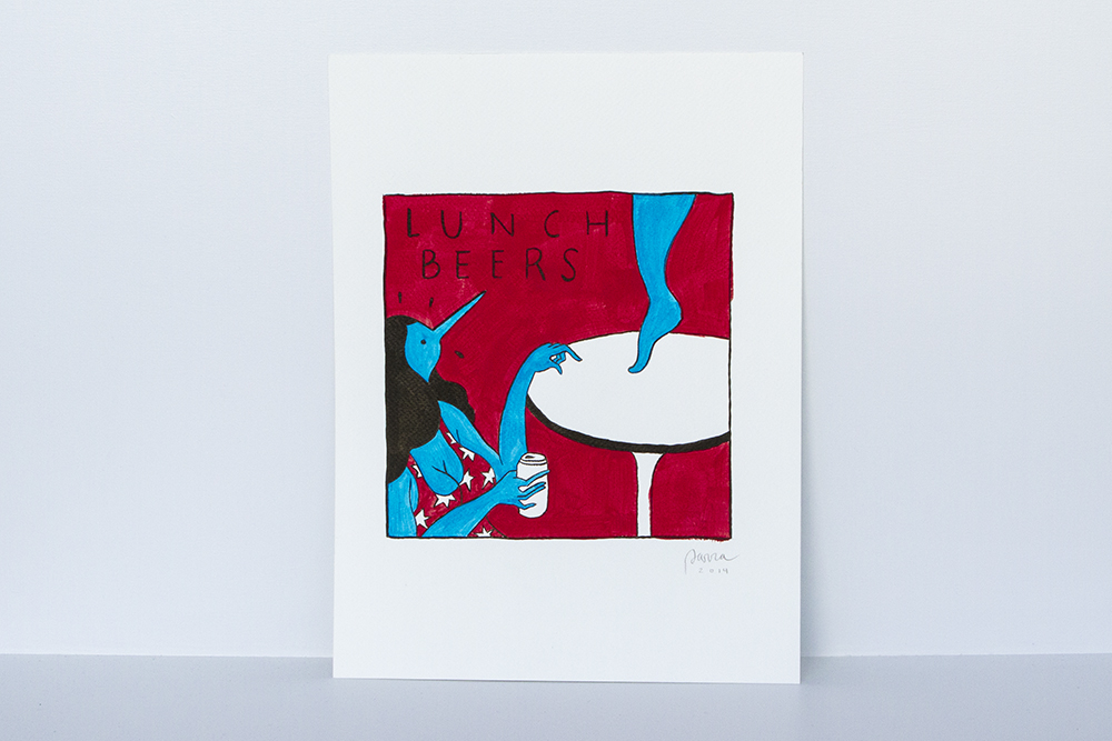 "Preview: Parra ""Same Old Song"" @ HVW8 Gallery, Los Angeles: lunchbeers161k.jpg"