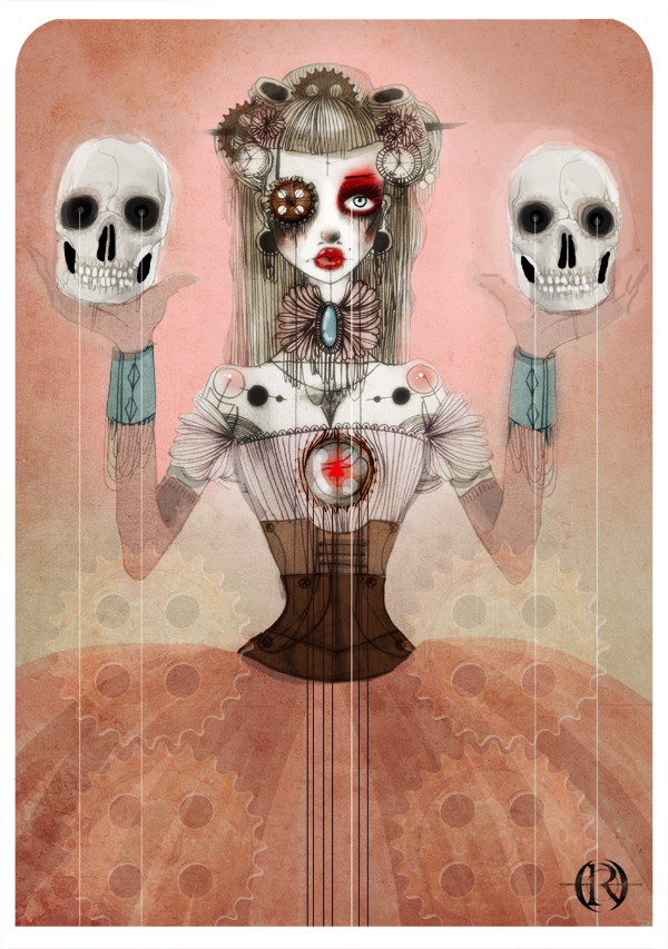 Enchanting Illustrations from Olivia Rose: red_queen_by_lalalandofclouds-d4yhc0e1.jpg