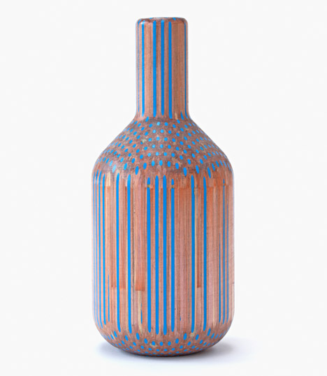 Tuomas Markunpoika Creates Beautiful Vases Using Hundreds of Pencils: pencilvases009.jpg