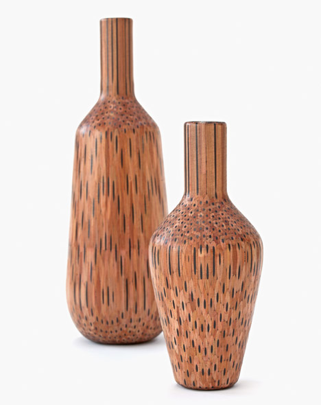 Tuomas Markunpoika Creates Beautiful Vases Using Hundreds of Pencils: pencilvases012.jpg