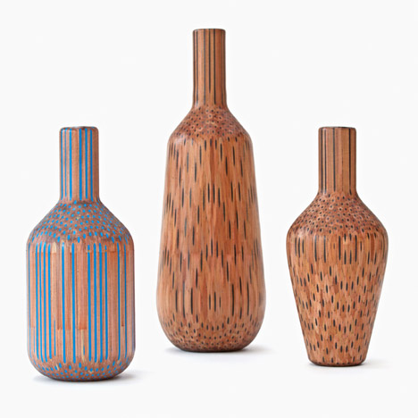 Tuomas Markunpoika Creates Beautiful Vases Using Hundreds of Pencils: pencilvases015.jpg