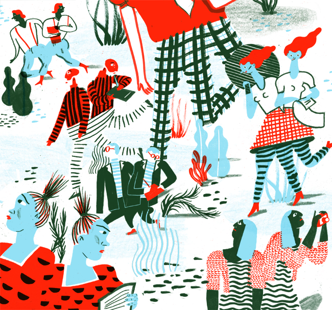 Screen-Print Style Works from Sari Cohen: Open.jpg