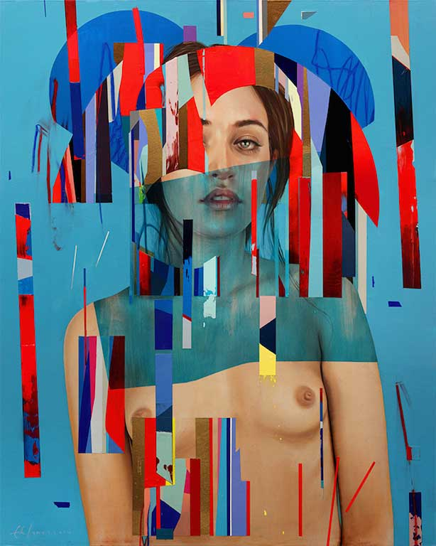 "Erik Jones ""Motion"" @ Hashimoto Contemporary, SF: Her-Royal-Cloth.jpg"