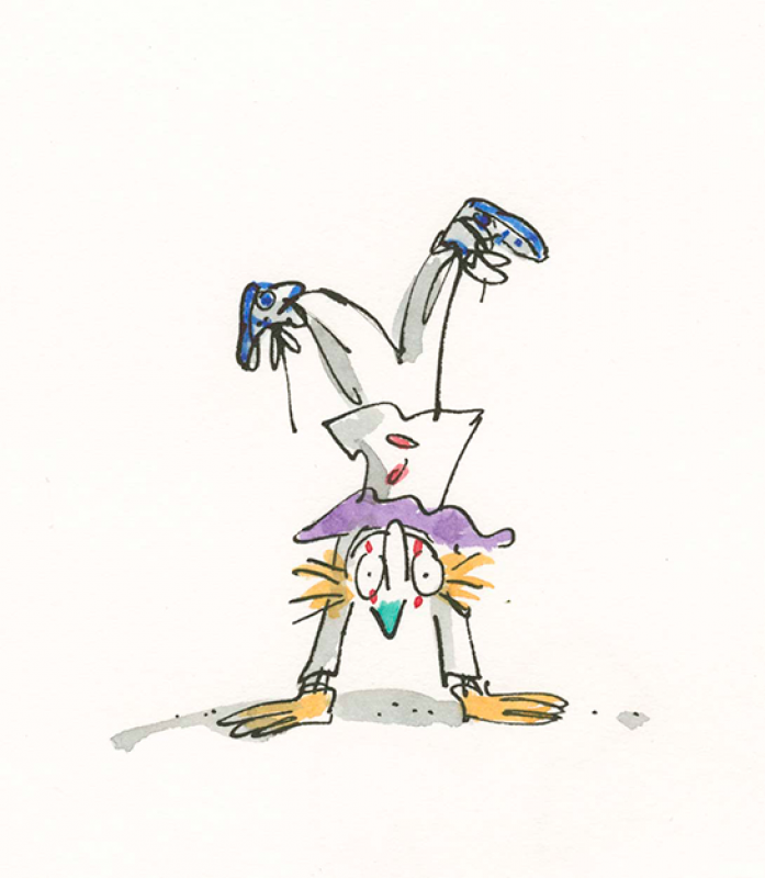 "Quentin Blake ""Inside Stories"" @ House of Illustration, London: lp79018_clown_c1995.png"