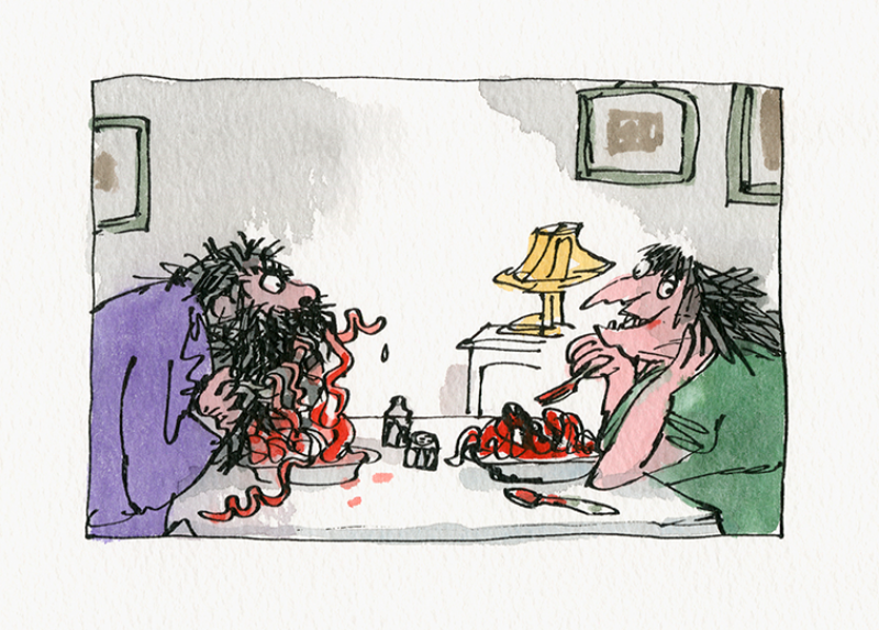 "Quentin Blake ""Inside Stories"" @ House of Illustration, London: the_twits.png"