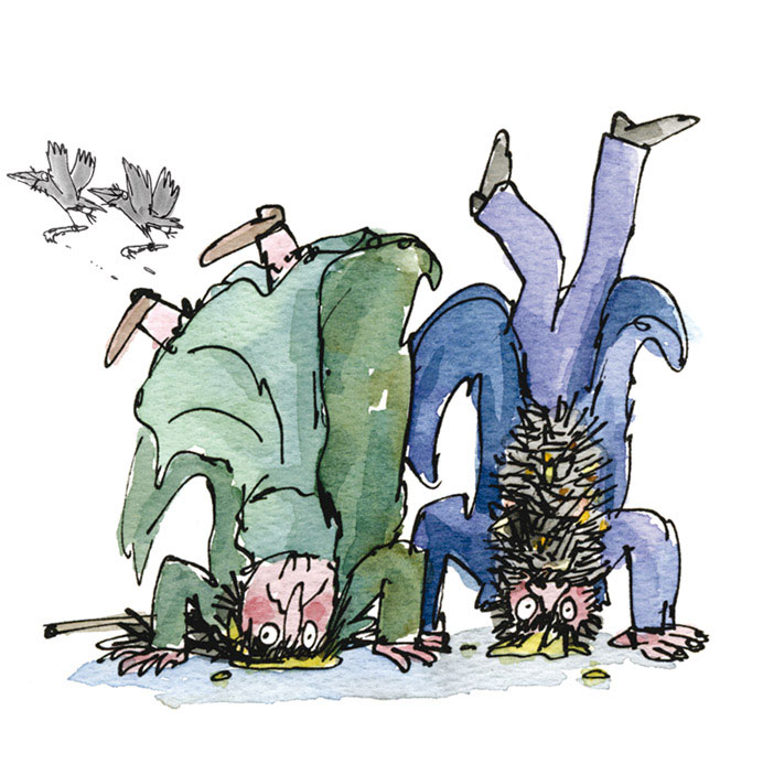 "Quentin Blake ""Inside Stories"" @ House of Illustration, London: thetwits.jpg"