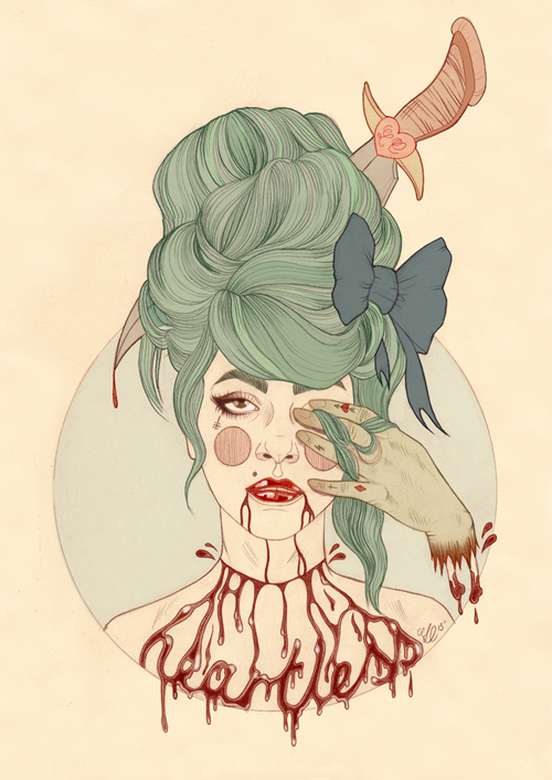 Tattooed Portrait Illustrations from Liz Clements: HeartlessIII.jpg
