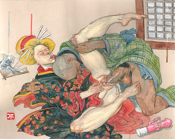 Modern Shunga from Jeff Faerber - NSFW: Supine_couple.jpg
