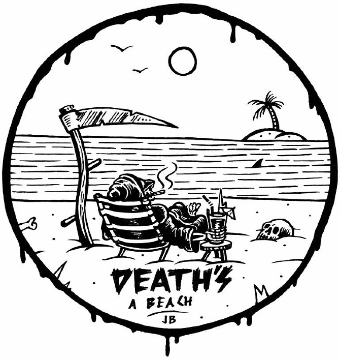 Summertime Illustrations from Jamie Browne: DEATHS-A-BEACH_WEB_LR.jpg