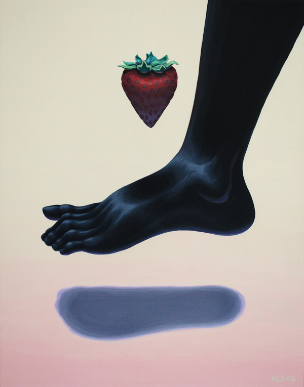 Surreal Paintings by Alex Gardner: strawberry_15.jpg