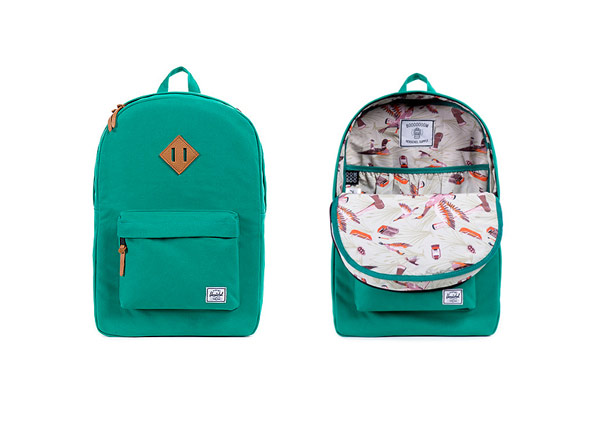 The Herschel Supply x Booooooom Heritage backpack: herschelsupply_booooooom1.jpg
