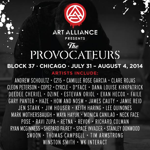 ART ALLIANCE: THE PROVOCATEURS, Chicago, July 31—August 4, 2014: Juxtapoz-ArtAlliance007.jpg
