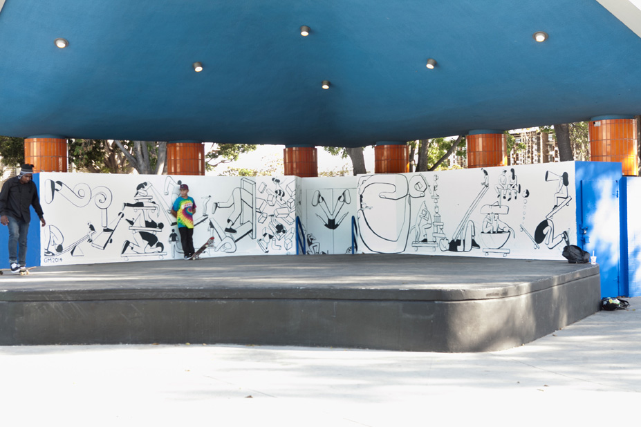 Geoff McFetridge Mural @ West LA Courthouse (with help from NIKE SB): mural-1.jpg