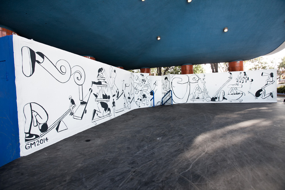 Geoff McFetridge Mural @ West LA Courthouse (with help from NIKE SB): mural-10.jpg