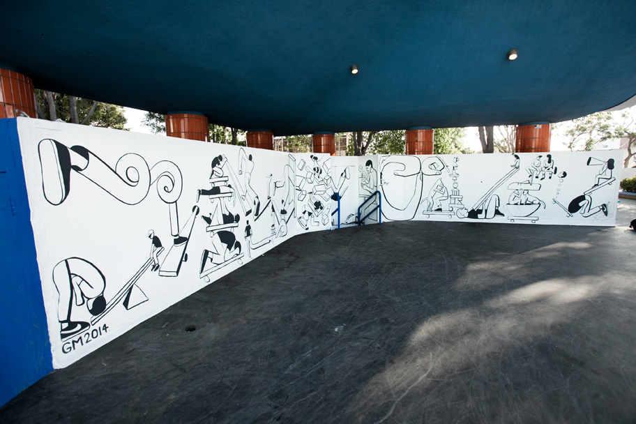 Geoff McFetridge Mural @ West LA Courthouse (with help from NIKE SB): mural-11.jpg