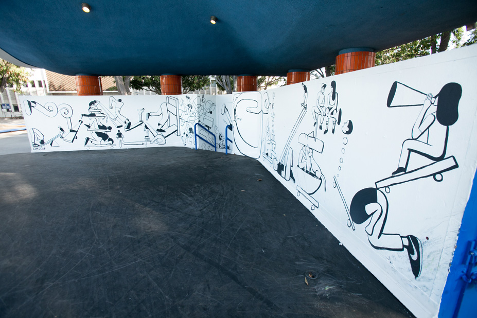 Geoff McFetridge Mural @ West LA Courthouse (with help from NIKE SB): mural-14.jpg