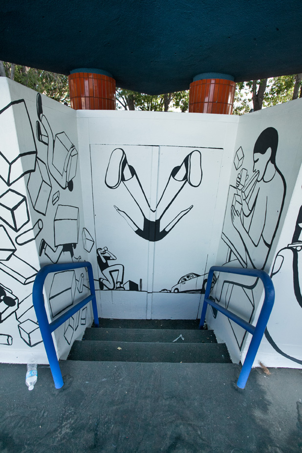 Geoff McFetridge Mural @ West LA Courthouse (with help from NIKE SB): mural-24.jpg